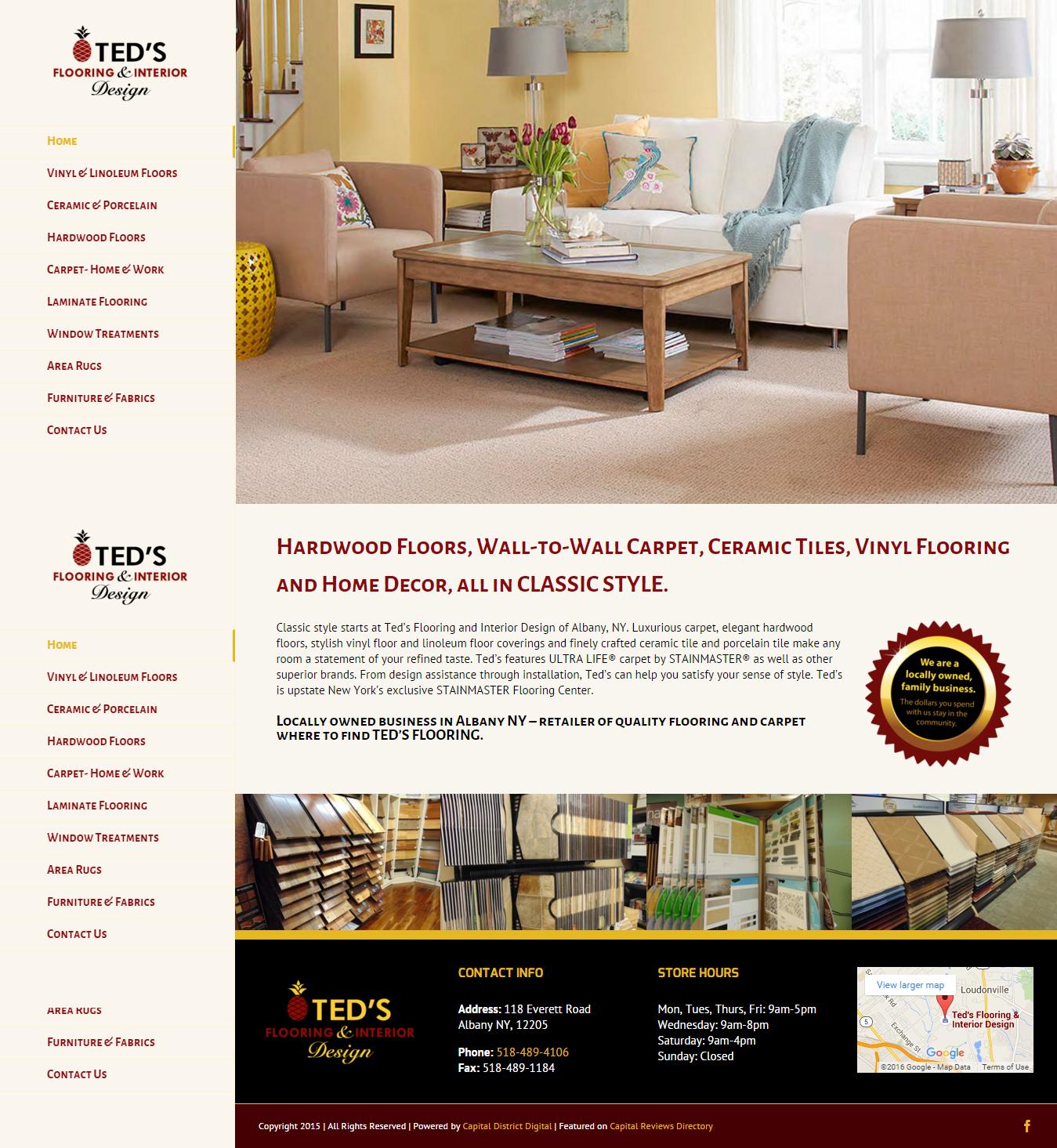 albany ny flooring store launches new website design capital