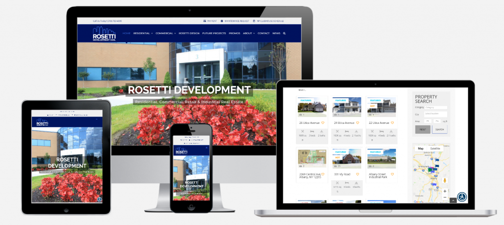 Commercial Real Estate Developer WordPress Website Development Albany, NY